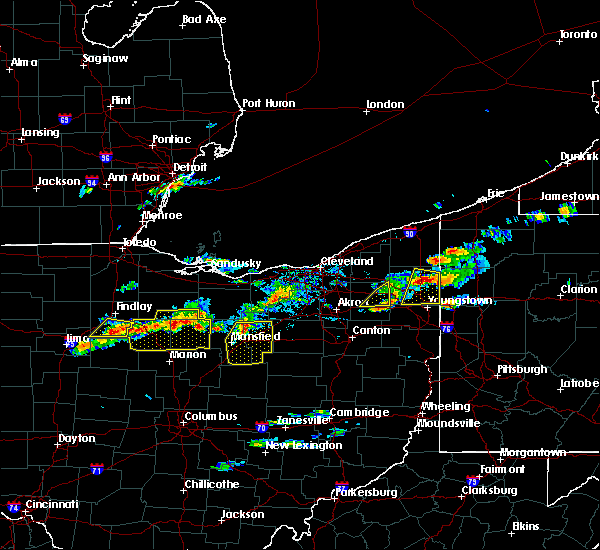 Radar Image for Severe Thunderstorms near Polk, OH at 5/22/2018 3:29 PM EDT