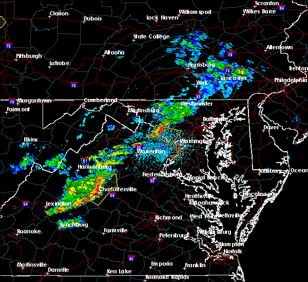 Radar Image for Severe Thunderstorms near University of Virginia, VA at 5/22/2018 3:35 PM EDT