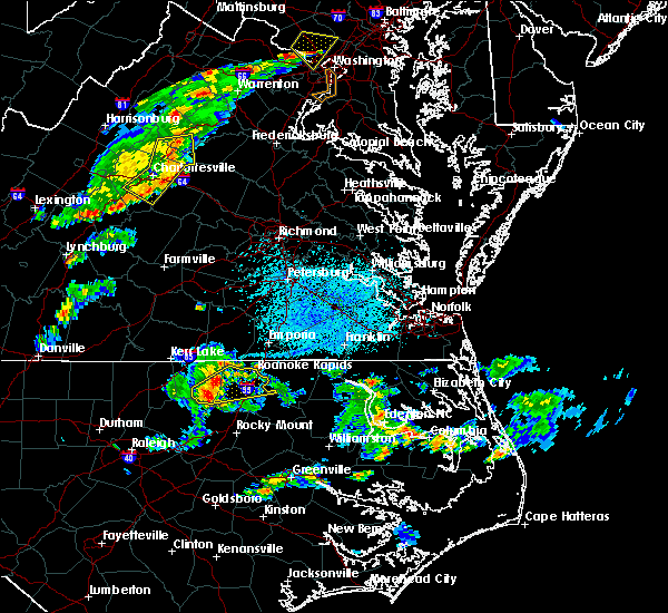 Radar Image for Severe Thunderstorms near Hollister, NC at 5/22/2018 3:56 PM EDT
