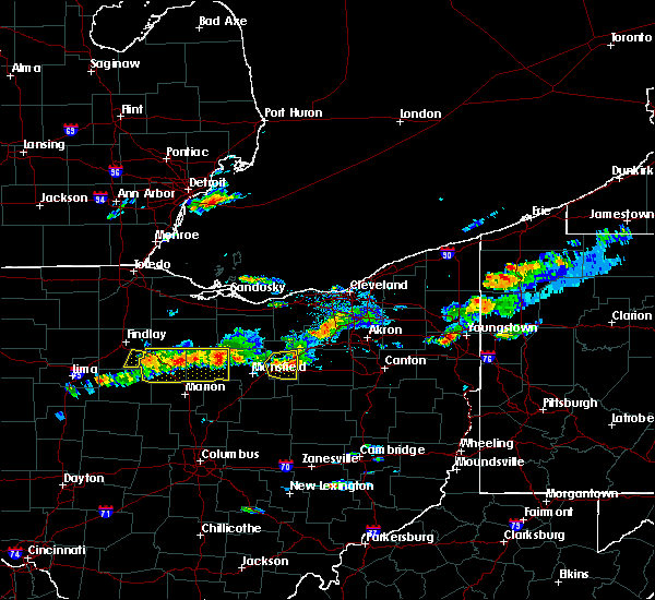 Radar Image for Severe Thunderstorms near Polk, OH at 5/22/2018 3:56 PM EDT