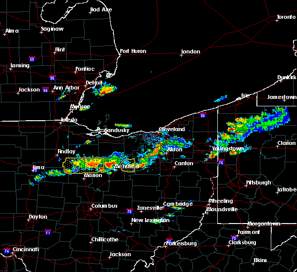 Radar Image for Severe Thunderstorms near Tiro, OH at 5/22/2018 4:14 PM EDT