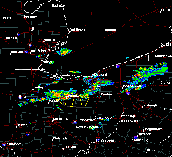 Radar Image for Severe Thunderstorms near Lucas, OH at 5/22/2018 4:27 PM EDT