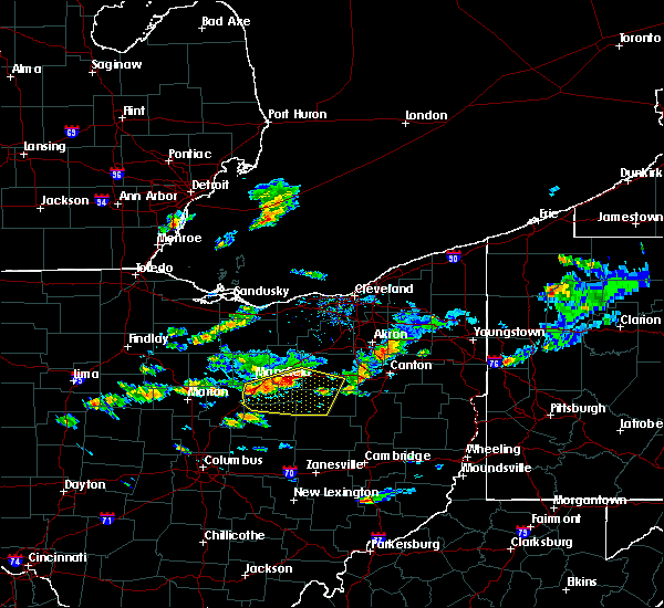 Radar Image for Severe Thunderstorms near Lucas, OH at 5/22/2018 4:51 PM EDT