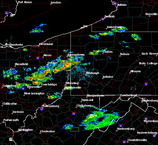 Radar Image for Severe Thunderstorms near Tuscarawas, OH at 5/22/2018 6:05 PM EDT