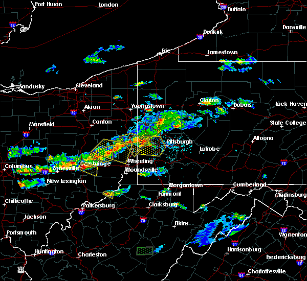 Radar Image for Severe Thunderstorms near Matamoras, OH at 5/22/2018 6:57 PM EDT