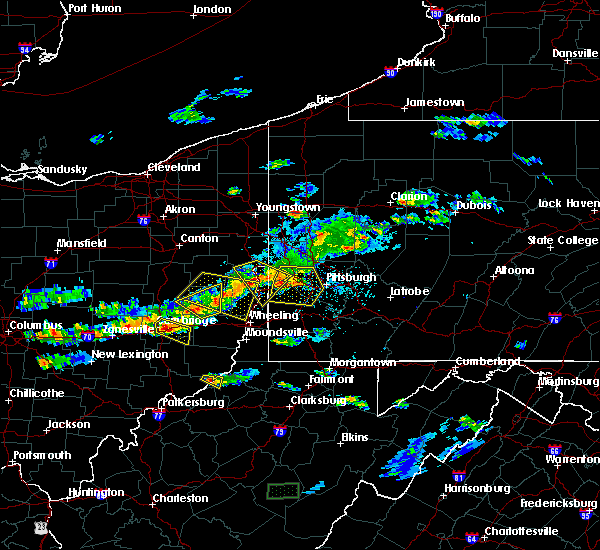 Radar Image for Severe Thunderstorms near Matamoras, OH at 5/22/2018 6:58 PM EDT
