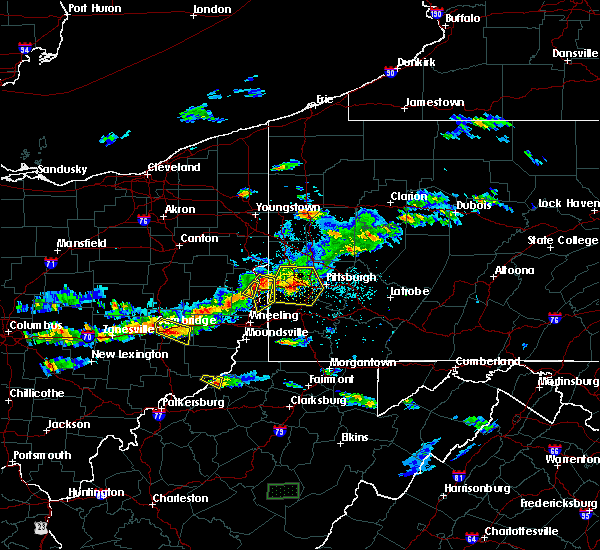 Radar Image for Severe Thunderstorms near Wintersville, OH at 5/22/2018 7:10 PM EDT
