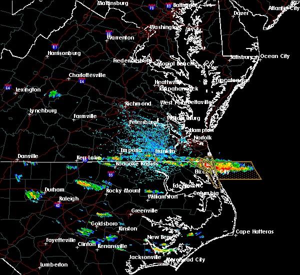 Radar Image for Severe Thunderstorms near Chesapeake, VA at 5/23/2018 3:46 PM EDT