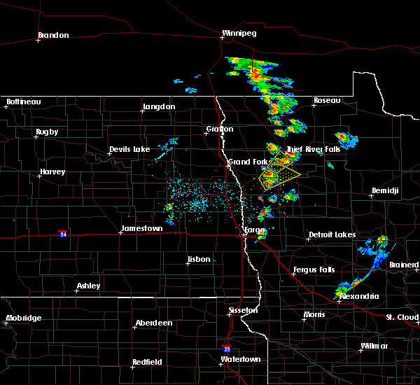 Radar Image for Severe Thunderstorms near Red Lake Falls, MN at 5/24/2018 9:45 PM CDT