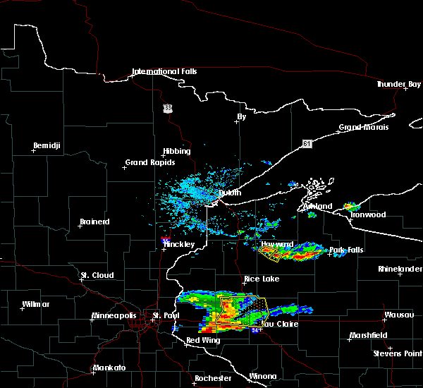 Radar Image for Severe Thunderstorms near Chief Lake, WI at 5/25/2018 6:51 PM CDT