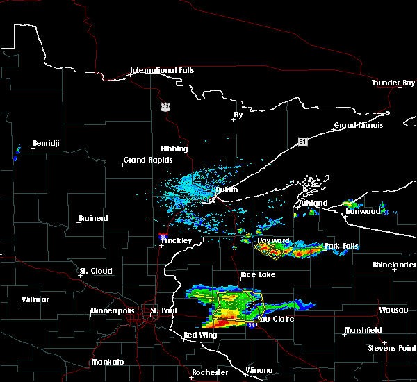 Radar Image for Severe Thunderstorms near Chief Lake, WI at 5/25/2018 7:02 PM CDT