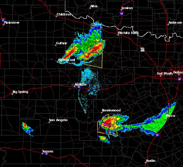 Radar Image for Severe Thunderstorms near Mullin, TX at 5/25/2018 8:41 PM CDT