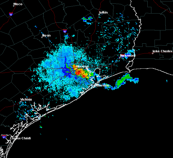 Radar Image for Severe Thunderstorms near Pasadena, TX at 5/26/2018 9:11 PM CDT