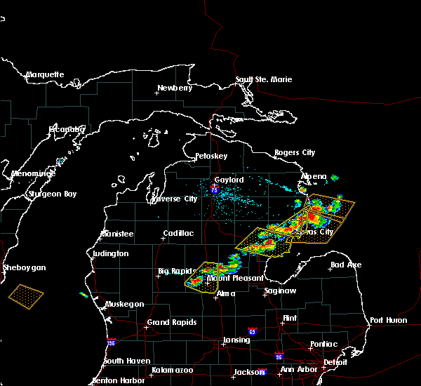 Radar Image for Severe Thunderstorms near Au Sable, MI at 5/27/2018 3:50 PM EDT