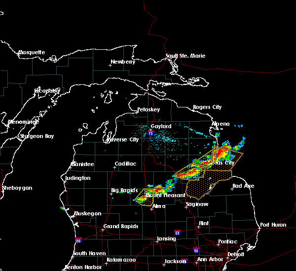 Radar Image for Severe Thunderstorms near Au Sable, MI at 5/27/2018 4:02 PM EDT