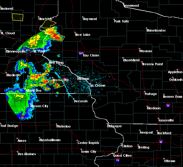 Radar Image for Severe Thunderstorms near Fountain, MN at 5/28/2018 7:30 PM CDT