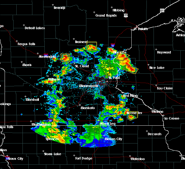 Radar Image for Severe Thunderstorms near Turtle Lake, WI at 5/28/2018 7:37 PM CDT