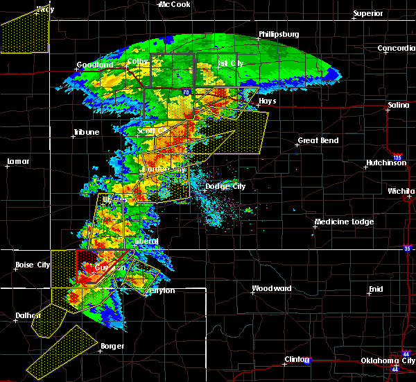 Radar Image for Severe Thunderstorms near La Crosse, KS at 5/28/2018 7:51 PM CDT