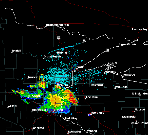 Radar Image for Severe Thunderstorms near Aitkin, MN at 5/28/2018 7:54 PM CDT