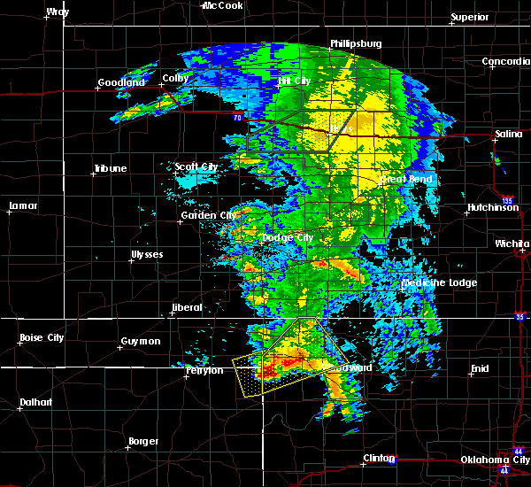 Radar Image for Severe Thunderstorms near Woodward, OK at 5/29/2018 12:37 AM CDT