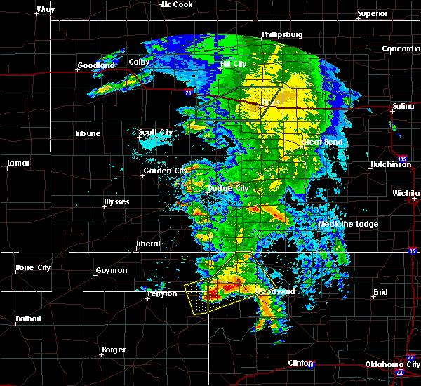 Radar Image for Severe Thunderstorms near Follett, TX at 5/29/2018 12:40 AM CDT