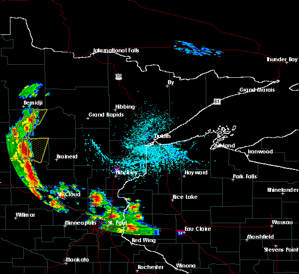 Radar Image for Severe Thunderstorms near Cass Lake, MN at 5/29/2018 3:37 PM CDT