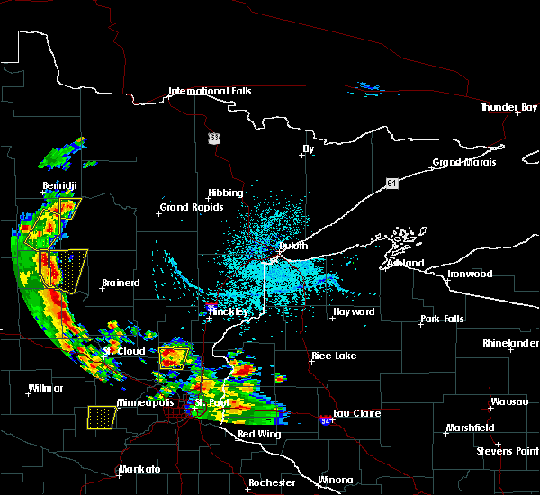 Radar Image for Severe Thunderstorms near Cass Lake, MN at 5/29/2018 3:47 PM CDT