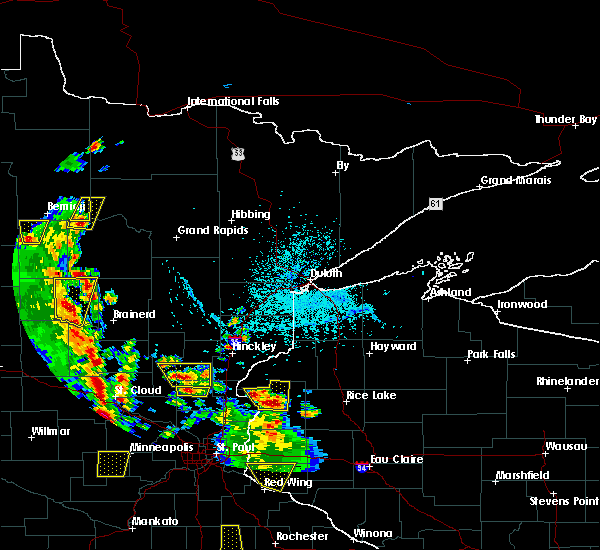 Radar Image for Severe Thunderstorms near Cass Lake, MN at 5/29/2018 4:05 PM CDT