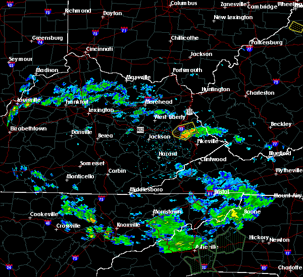 Radar Image for Severe Thunderstorms near Prestonsburg, KY at 5/29/2018 5:37 PM EDT