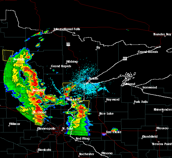 Radar Image for Severe Thunderstorms near Danbury, WI at 5/29/2018 4:50 PM CDT