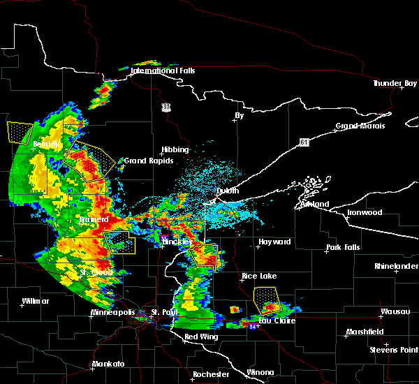 Radar Image for Severe Thunderstorms near Danbury, WI at 5/29/2018 5:13 PM CDT