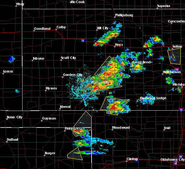 Radar Image for Severe Thunderstorms near Protection, KS at 5/29/2018 5:31 PM CDT