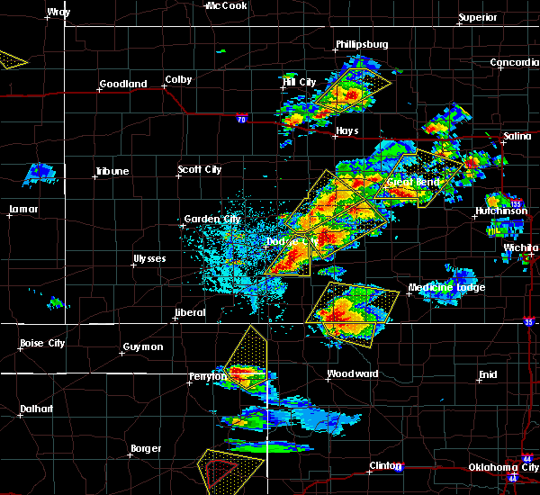 Radar Image for Severe Thunderstorms near Protection, KS at 5/29/2018 5:51 PM CDT