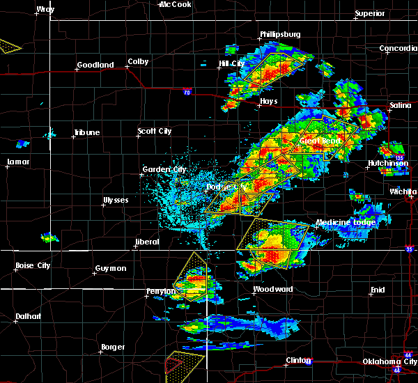 Radar Image for Severe Thunderstorms near Protection, KS at 5/29/2018 6:10 PM CDT