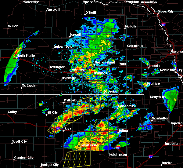 Radar Image for Severe Thunderstorms near Mankato, KS at 5/29/2018 6:35 PM CDT