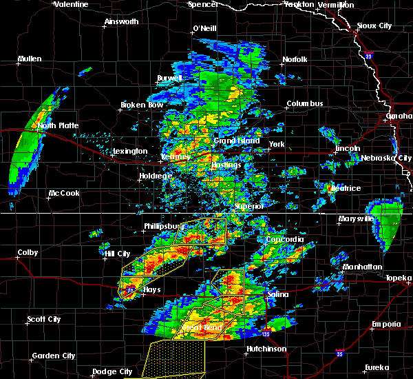Radar Image for Severe Thunderstorms near Mankato, KS at 5/29/2018 6:44 PM CDT