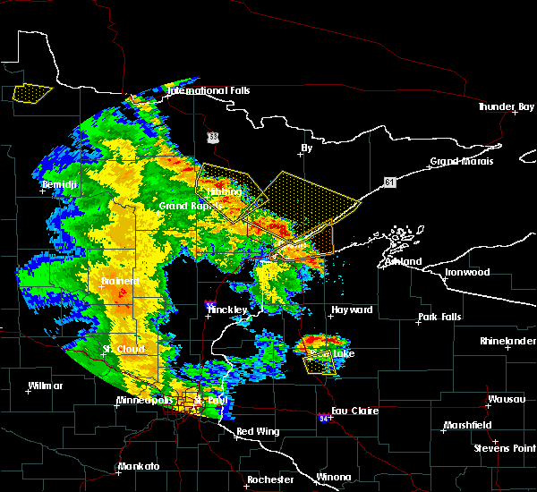 Radar Image for Severe Thunderstorms near Duluth, MN at 5/29/2018 6:45 PM CDT