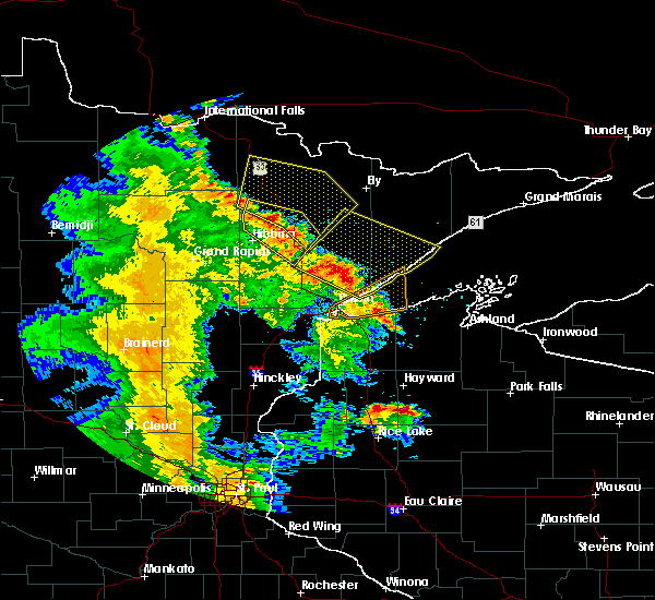 Radar Image for Severe Thunderstorms near Aurora, MN at 5/29/2018 6:54 PM CDT