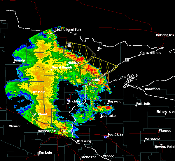 Radar Image for Severe Thunderstorms near Aurora, MN at 5/29/2018 7:06 PM CDT