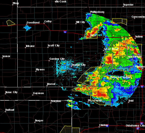 Radar Image for Severe Thunderstorms near Protection, KS at 5/29/2018 7:22 PM CDT