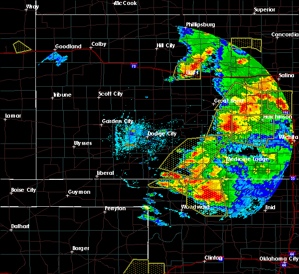 Radar Image for Severe Thunderstorms near Protection, KS at 5/29/2018 7:25 PM CDT