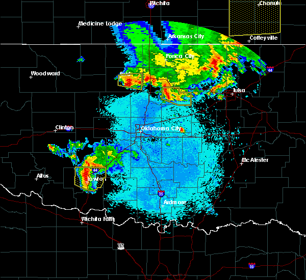Radar Image for Severe Thunderstorms near Yale, OK at 5/29/2018 11:42 PM CDT