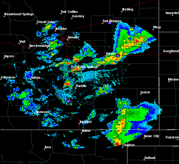 Radar Image for Severe Thunderstorms near Security-Widefield, CO at 5/30/2018 4:26 PM MDT