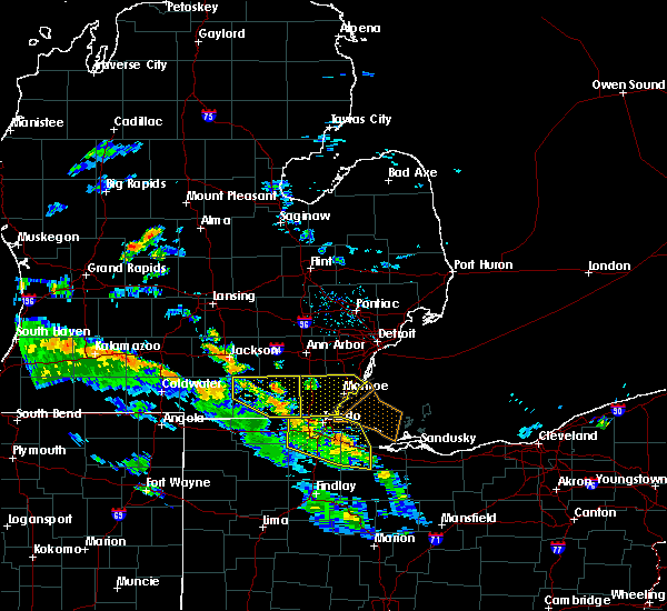 Radar Image for Severe Thunderstorms near Toledo, OH at 5/30/2018 6:35 PM EDT
