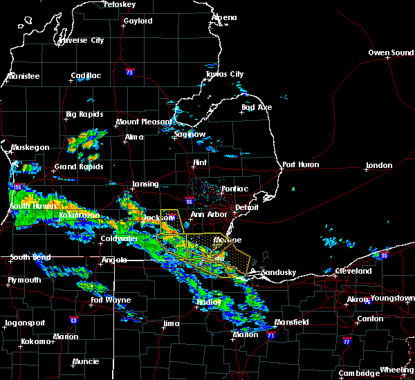 Radar Image for Severe Thunderstorms near Dundee, MI at 5/30/2018 7:00 PM EDT