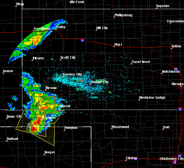 Radar Image for Severe Thunderstorms near Moscow, KS at 5/30/2018 8:15 PM CDT