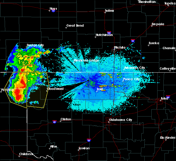 Radar Image for Severe Thunderstorms near Woodward, OK at 5/30/2018 10:11 PM CDT