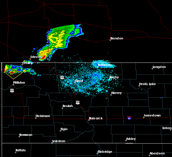Radar Image for Severe Thunderstorms near Alamo, ND at 5/30/2018 10:26 PM CDT
