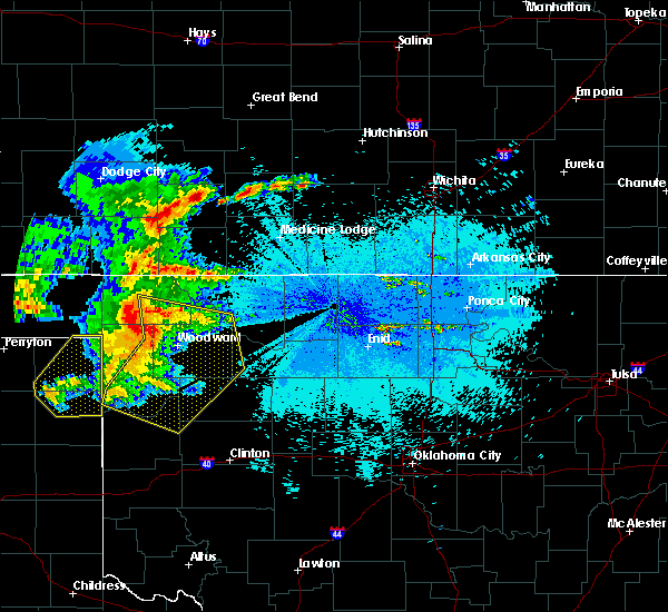 Radar Image for Severe Thunderstorms near Woodward, OK at 5/30/2018 10:51 PM CDT