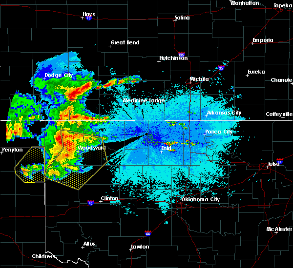 Radar Image for Severe Thunderstorms near Woodward, OK at 5/30/2018 10:57 PM CDT